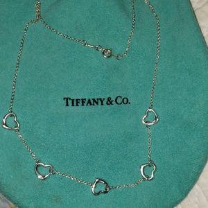 Tiffany & Co. Jewelry - TIFFANY 5 HEART 16 INCH NECKLACE